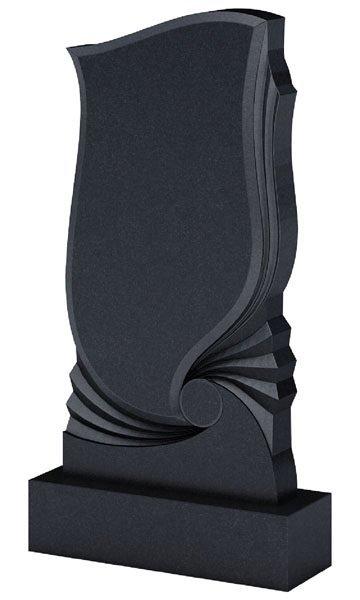 Гранитный фигурный памятник, подготовленный для нанесения надписей
